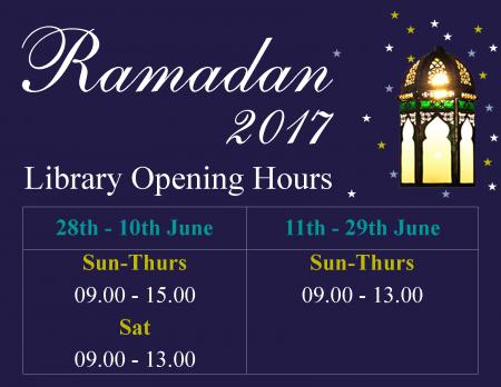 ramadan 2017 opening hours