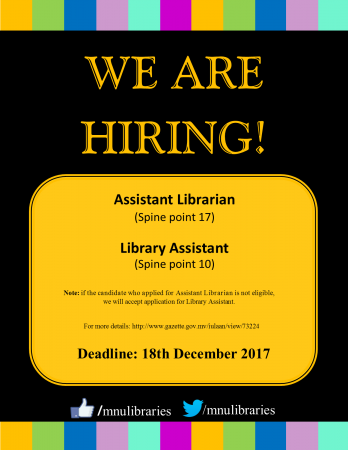 Hiring, assistant librarian