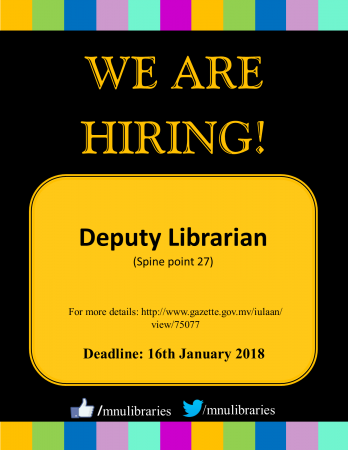 Hiring Deputy Librarian